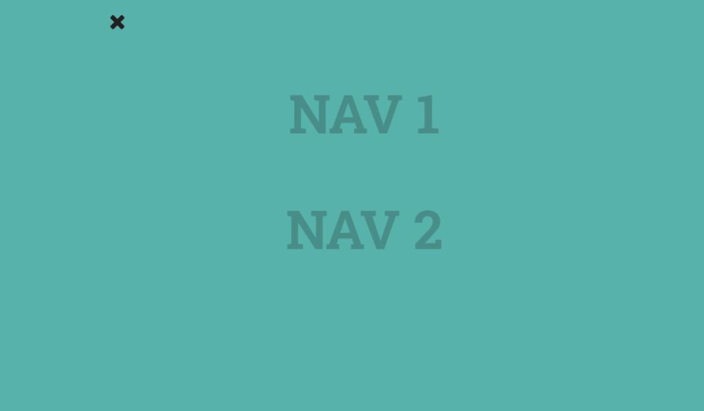 JS Full Page Off-Canvas Navigation menu Example