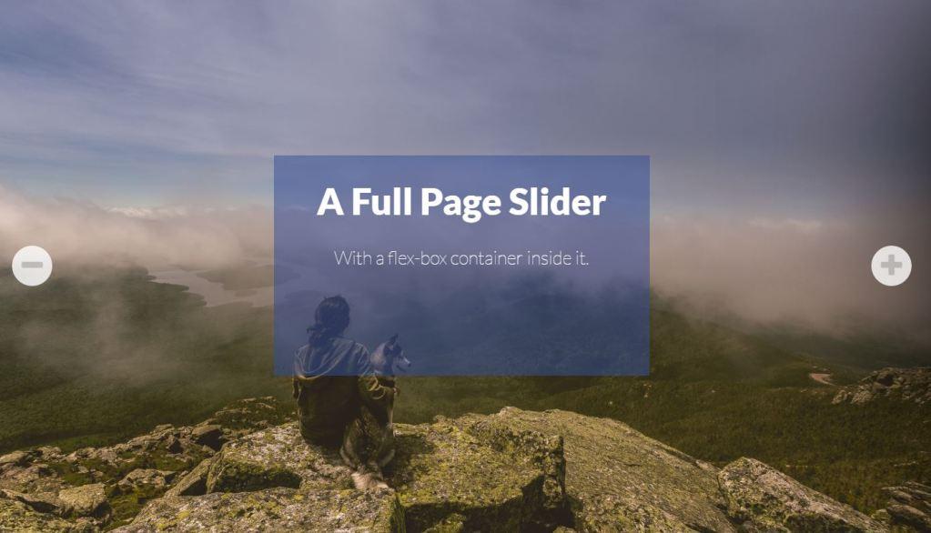 Full Page Simple JavaScript JS image slider