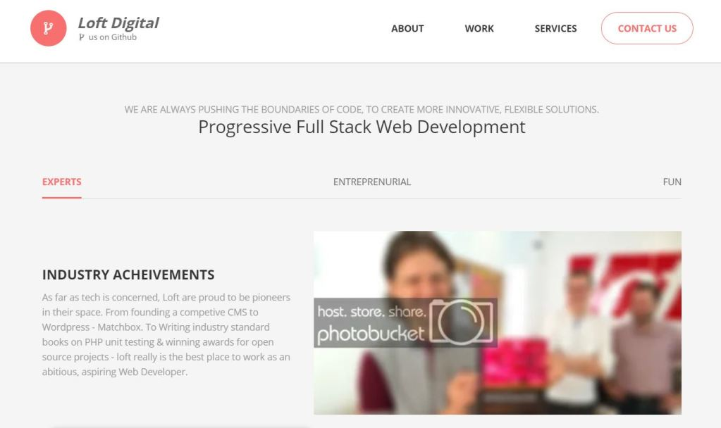 JavaScript Fixed Header Homepage Website