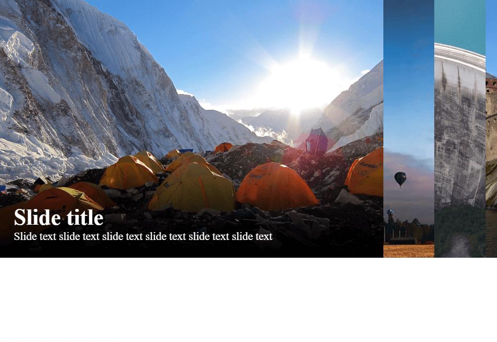Adaptive Horizontal Image Accordion