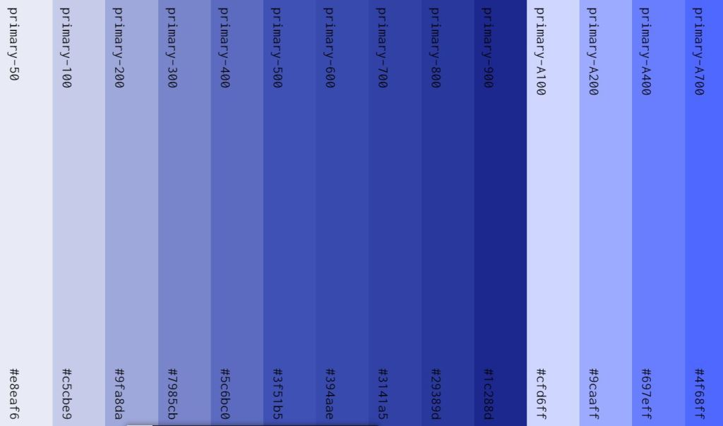 Bootstrap Material Palette Color