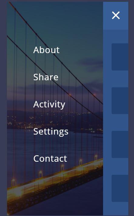 JavaScript mobile Nav menu example with source code