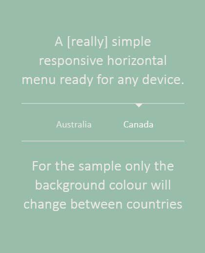 Simple Responsive Horizontal Menu Design