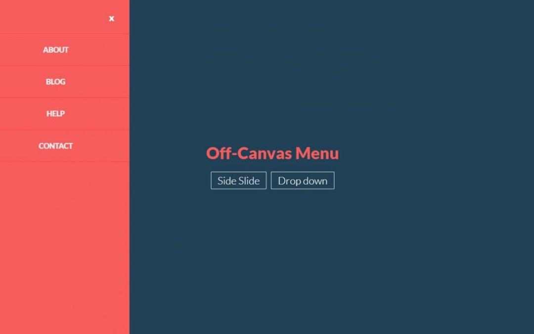 JavaScript Off Canvas Menu Examples