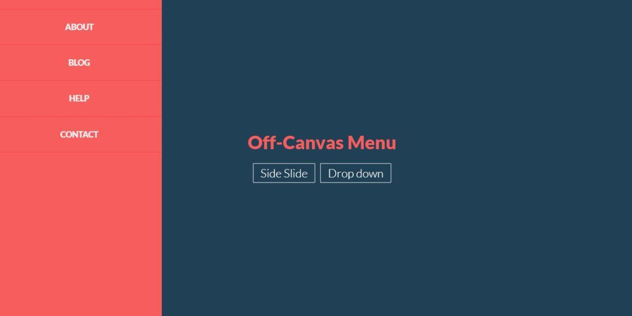 22+ JavaScript Off Canvas Menu Examples