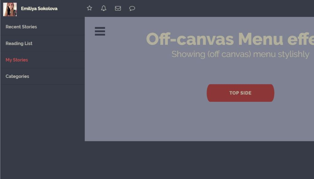 Responsive Off-canvas Menu Top Side Effects