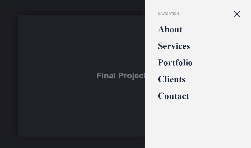 Offcanvas Web menu design