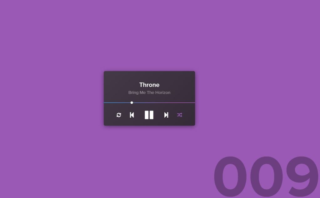 Online Music Player App Widget