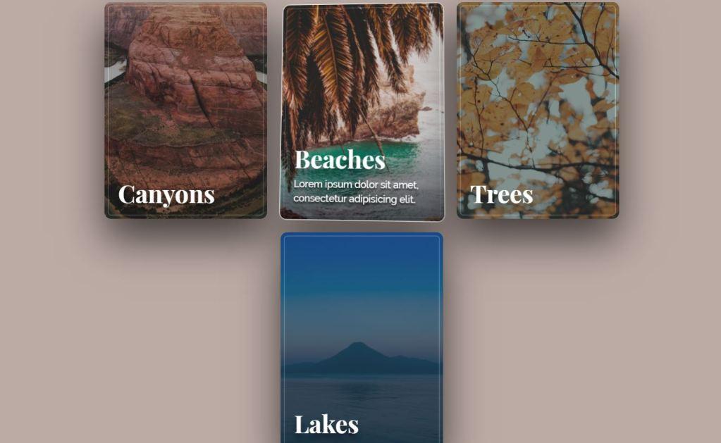 Parallax depth JavaScript/JS thumbnail design