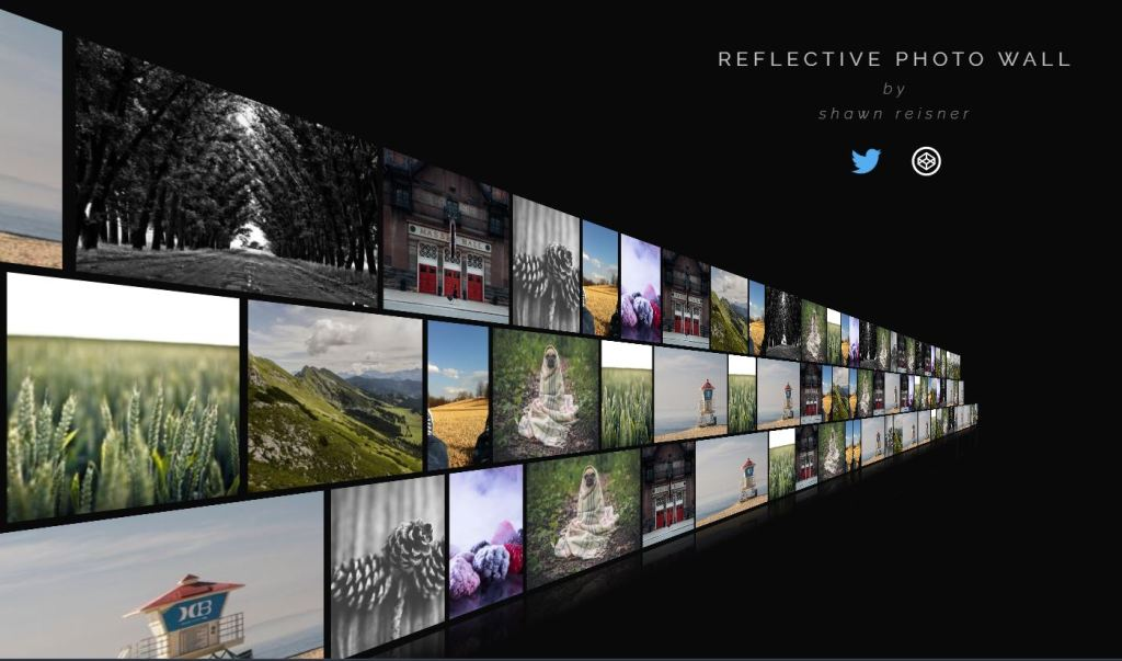 Javascript Reflective image gallery