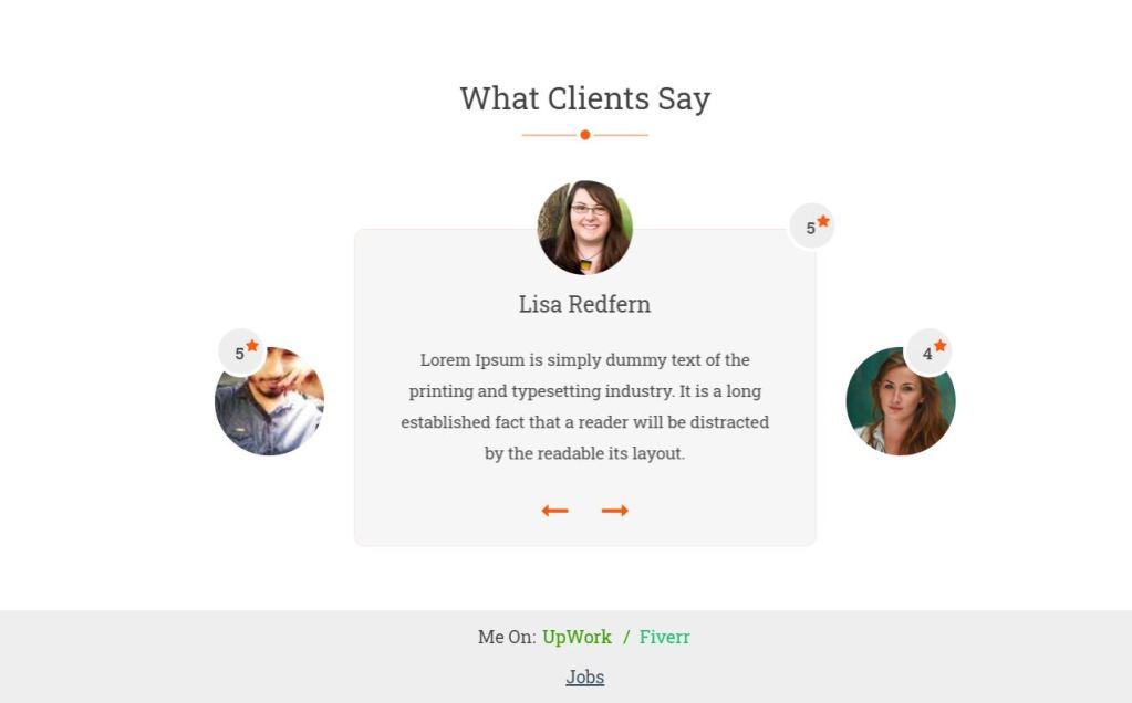 Responsive Bootstrap Testimonial Slider