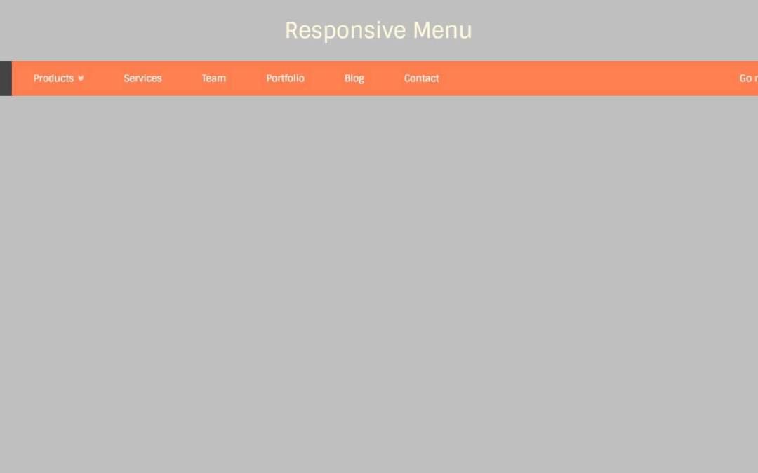 JavaScript Horizontal Menu Examples
