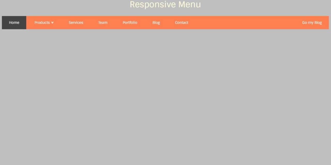 10+ JavaScript Horizontal Menu Examples