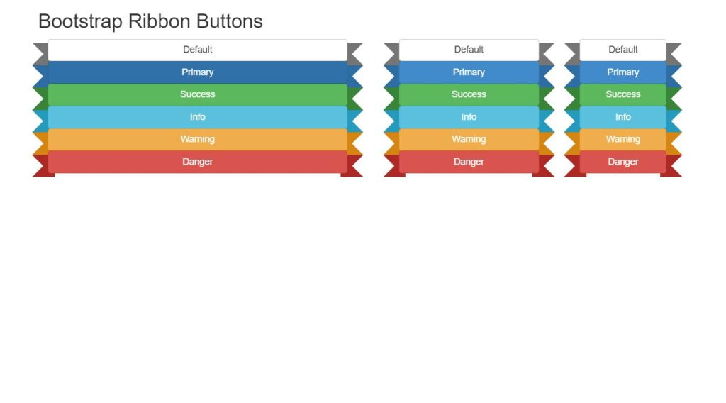 Bootstrap Ribbon Buttons Design Example
