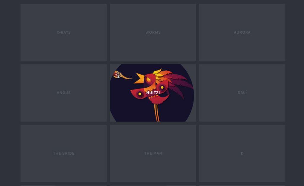 SVG JavaScript/JS thumbnail design