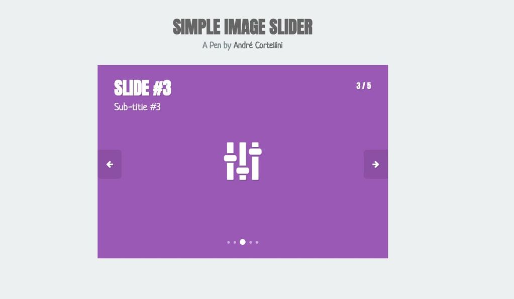 Simple JavaScript JS image slider with carousel