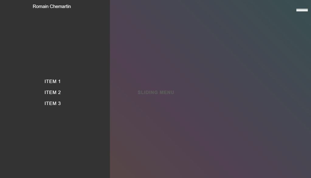 Simple JavaScript/JS Slide menu