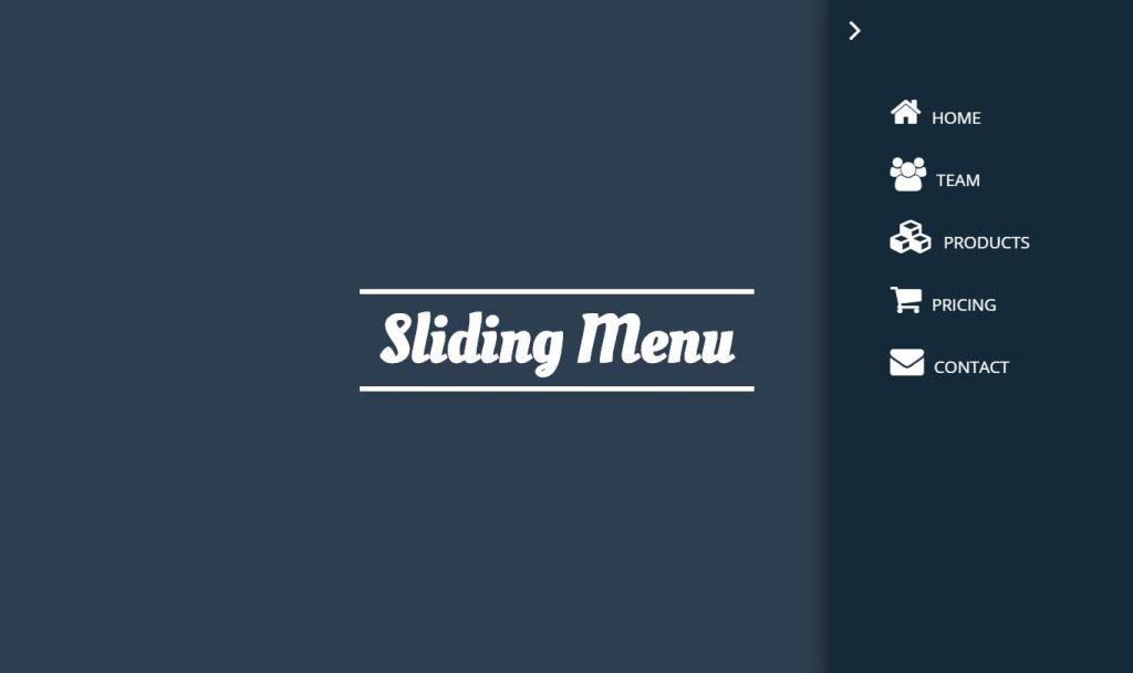 Javascript slide out menu example