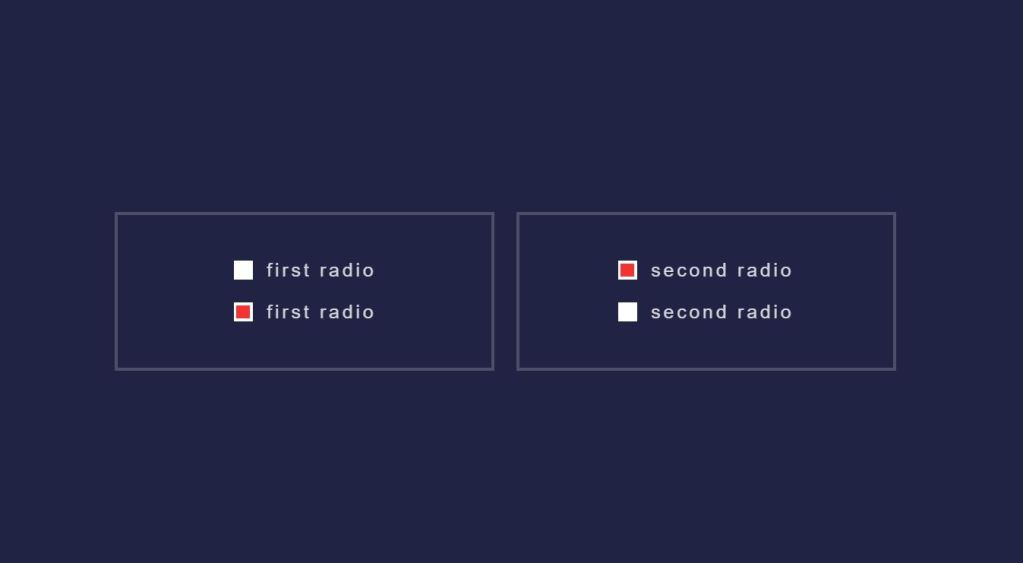 JS Toggle Radio button example