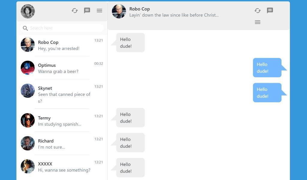 WhatsApp Inspired Bootstrap