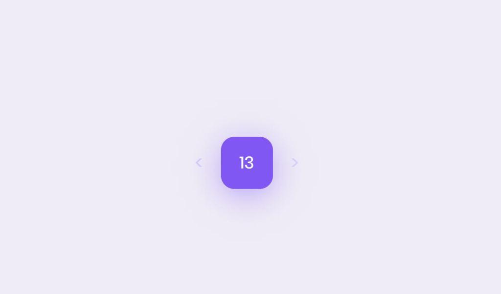 Simple JavaScript/JS date picker example