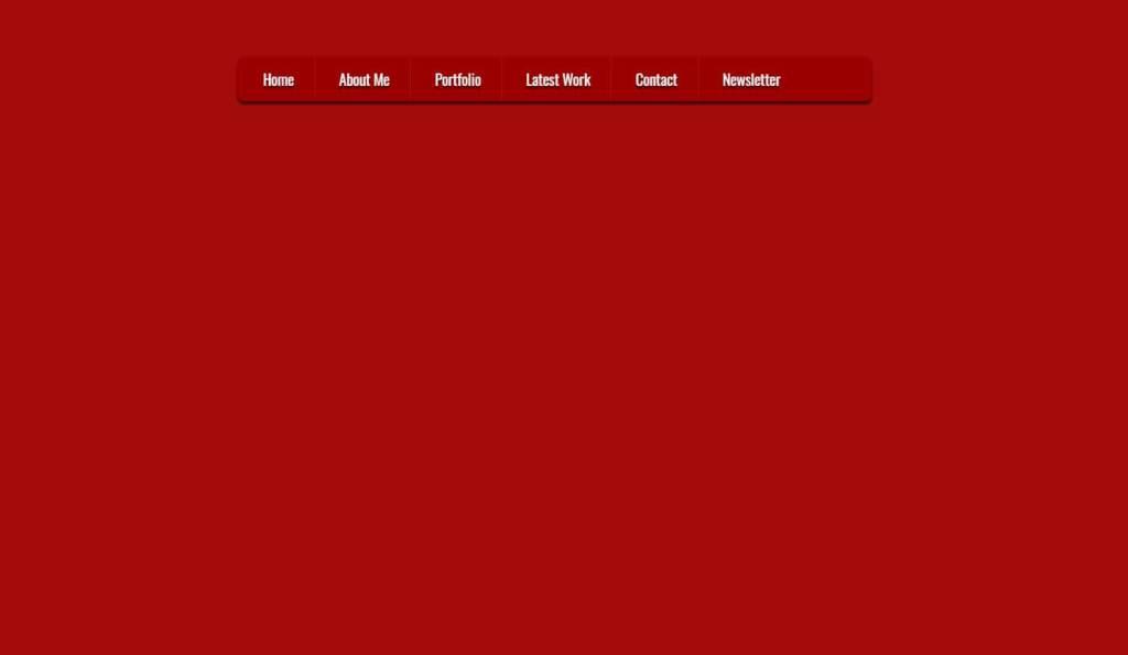 Horizontal menu HTML CSS