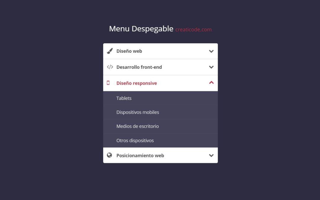 JavaScript Accordion Menu Examples
