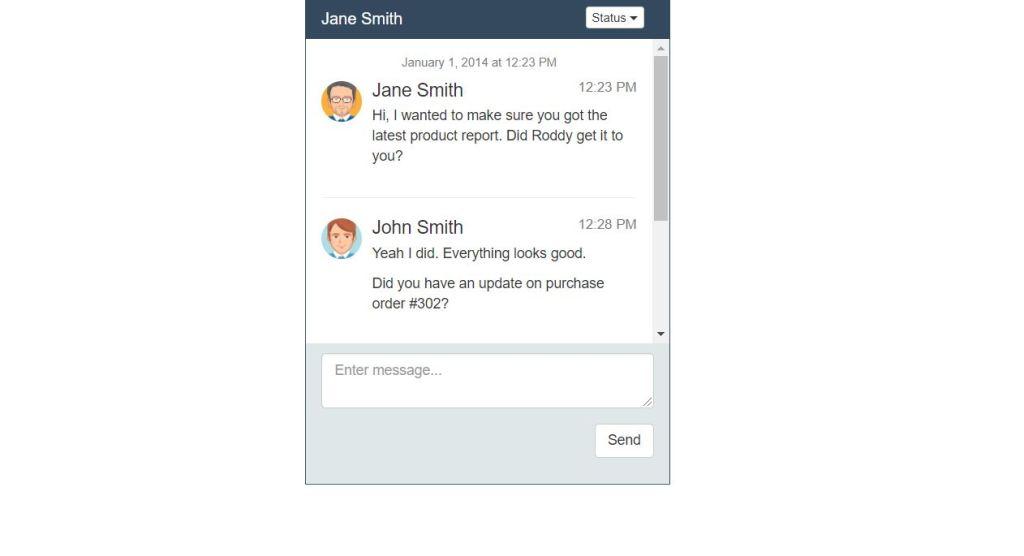 Bootstrap ChatBox UI Design