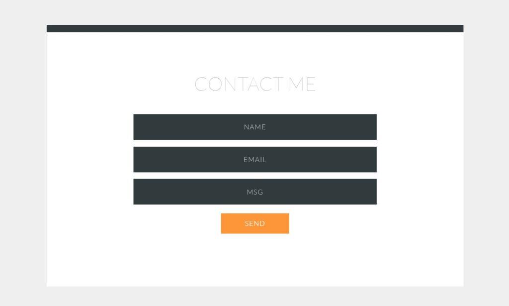 Expandable JavaScript/JS contact page