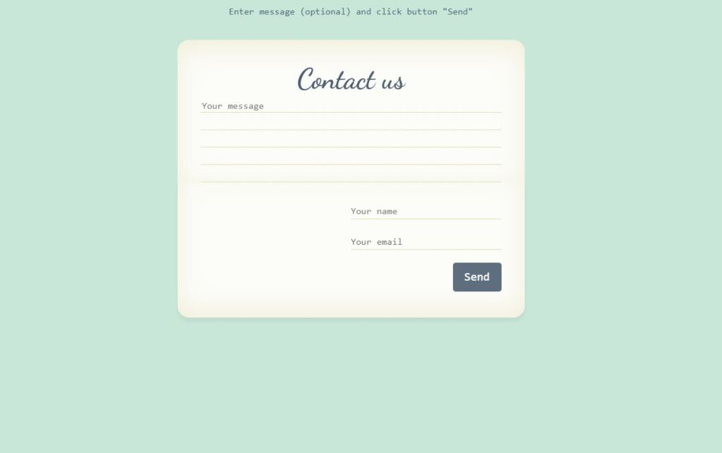 JavaScript/JS contact page