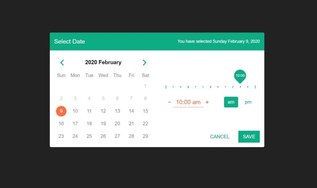 Amazing JavaScript/JS Calendar