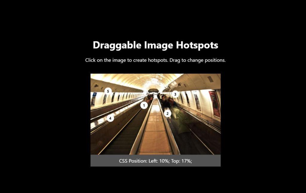 JavaScript/JS Image Hotspots Example