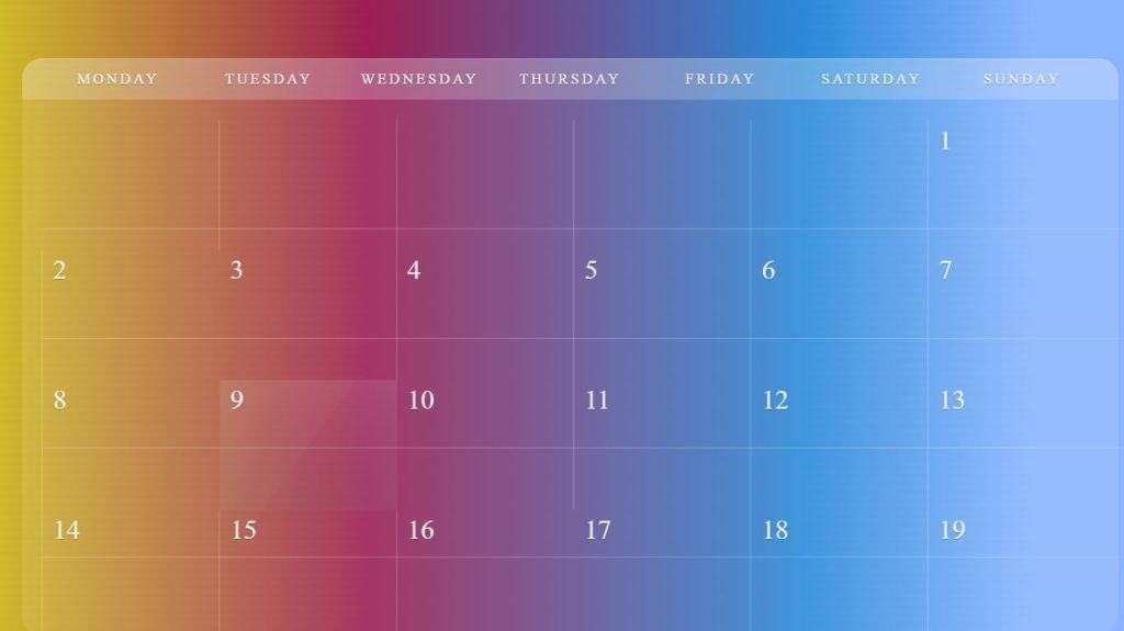 Flexible JavaScript/JS Calendar