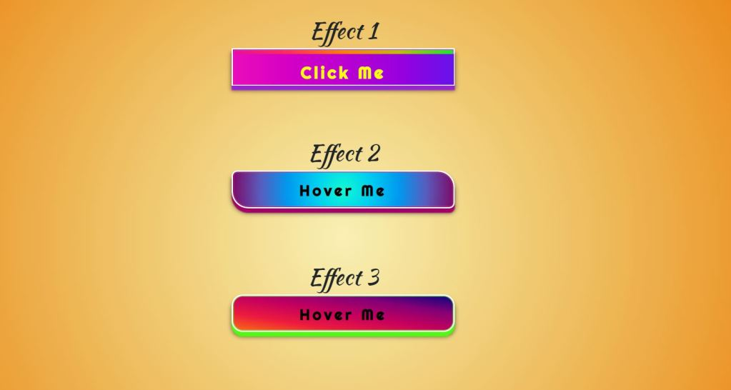 3D GradientButtons with Hover Effects