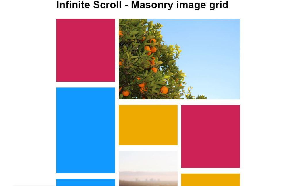 Infinite Scroll MasonryGrid