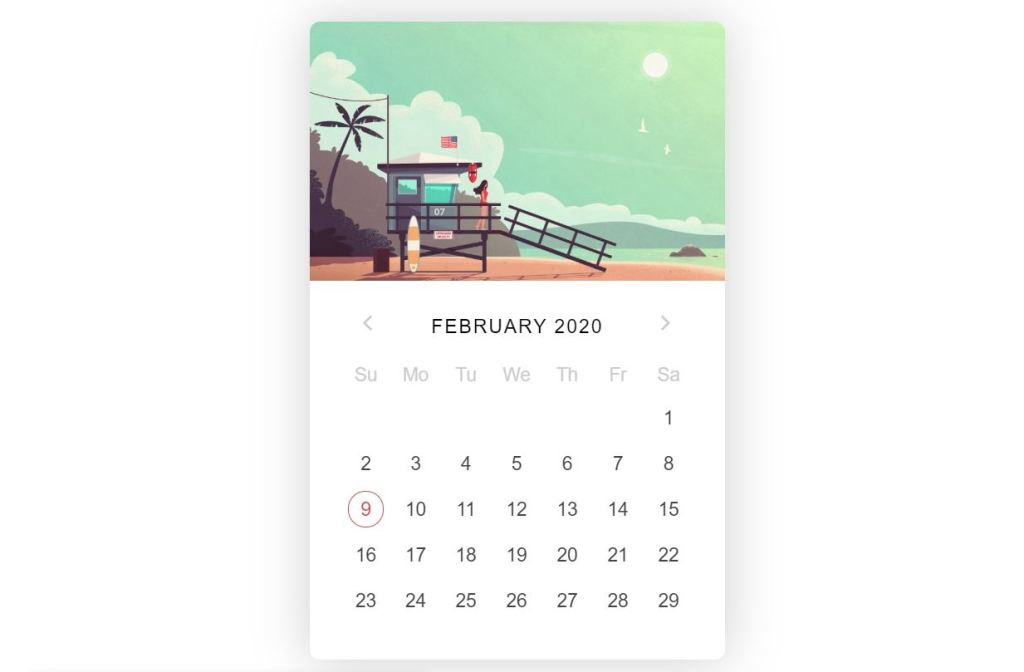 jQuery Datepicker Summer Vibe