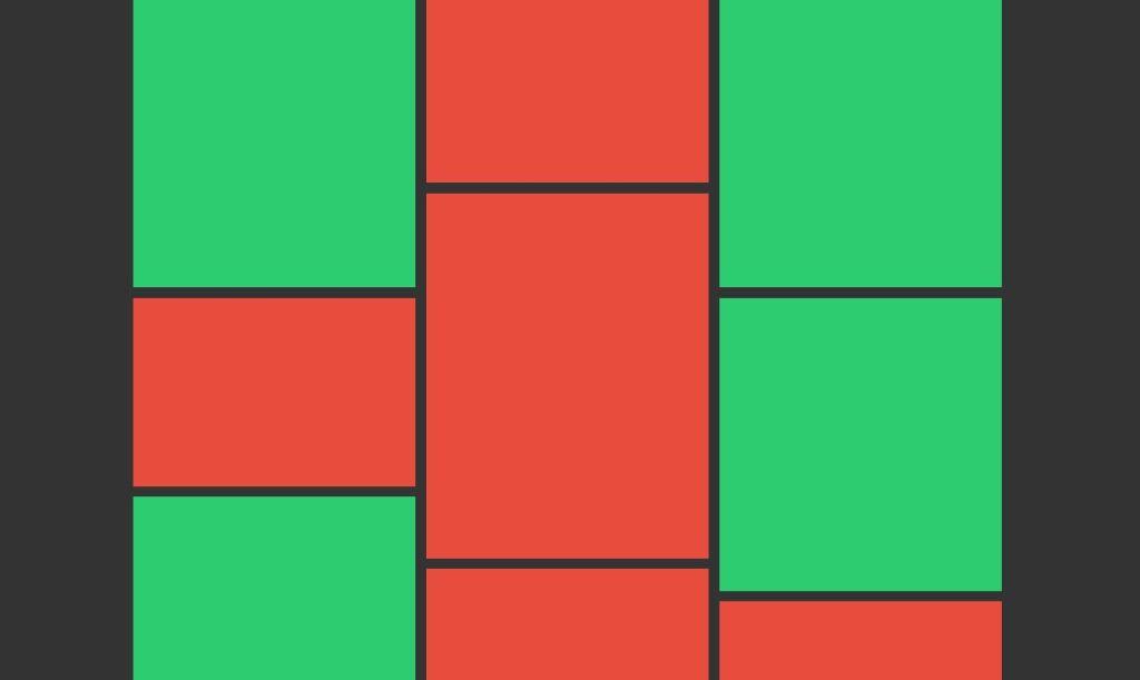 JavaScript/JS Masonry Fluid Grid Example
