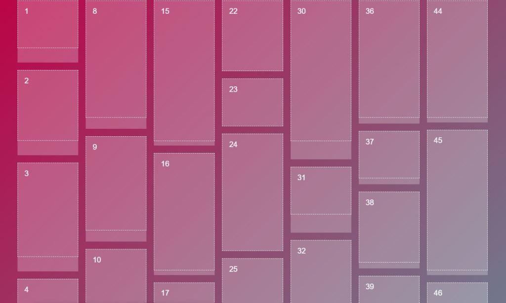 JavaScript/JS Masonry Pinterest Example