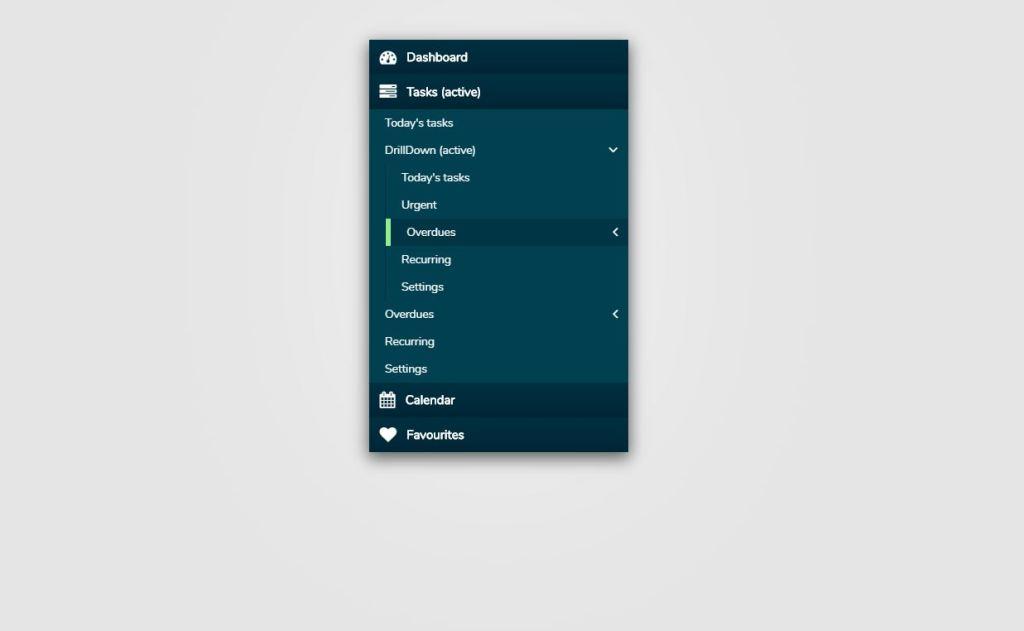Bootstrap Multi level Accordion Web Menu Design