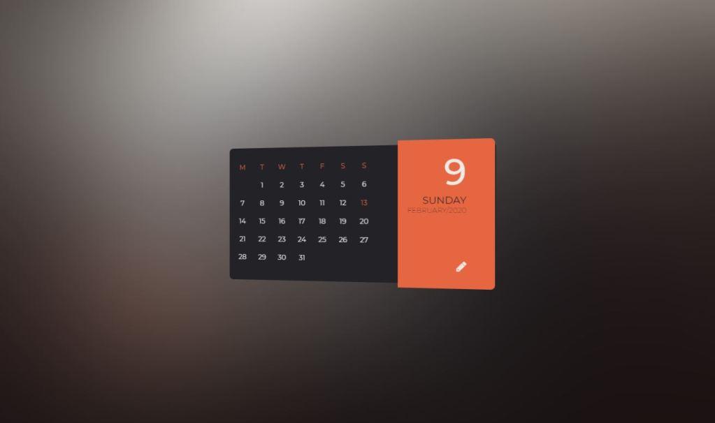 JavaScript/JS Calendar