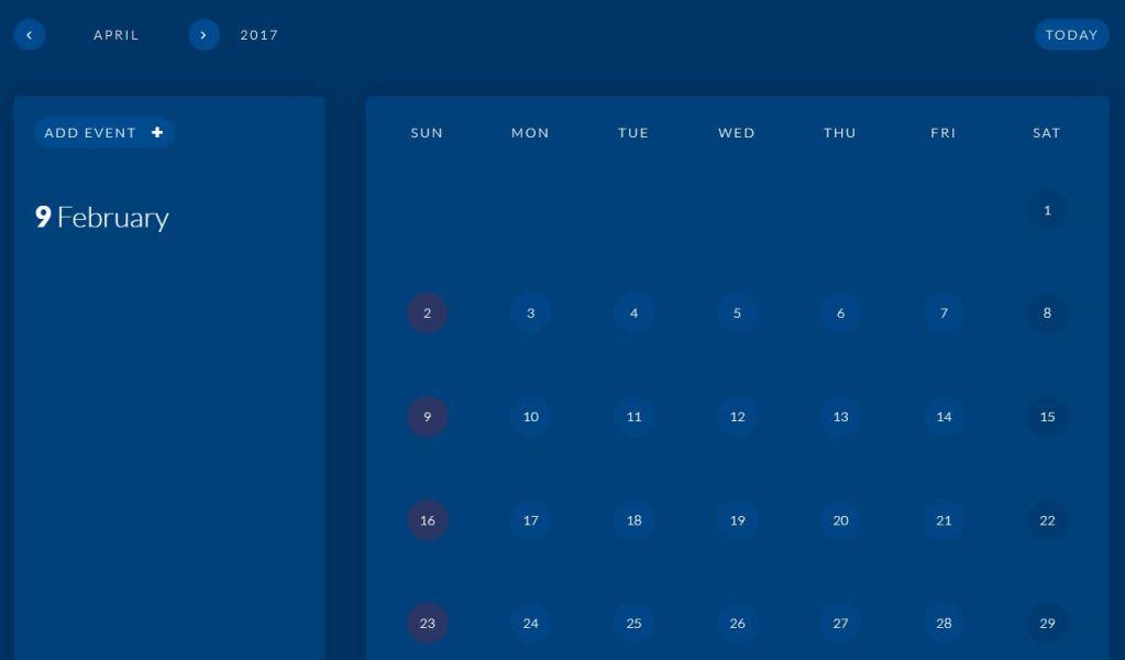 Simple JavaScript/JS Calendar