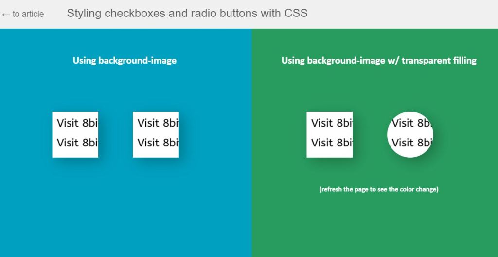 Styling Checkboxes And Radio Buttons
