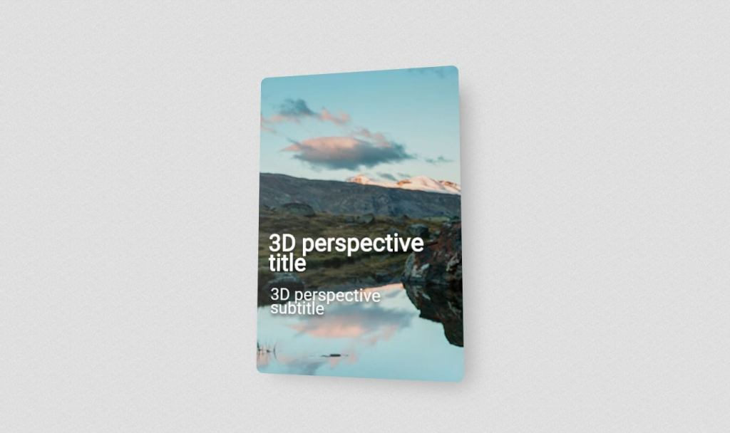 3D Perspective JavaScript Card