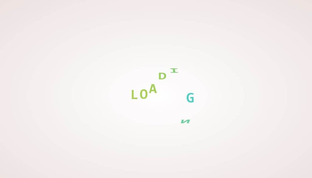 Animated Text Type Page Loader