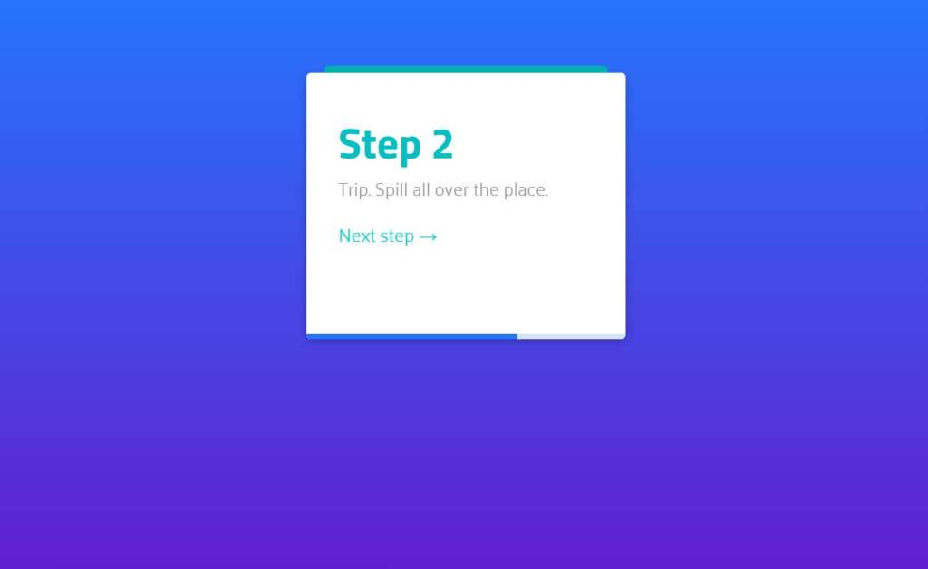 JS Cards Stack Animation Example