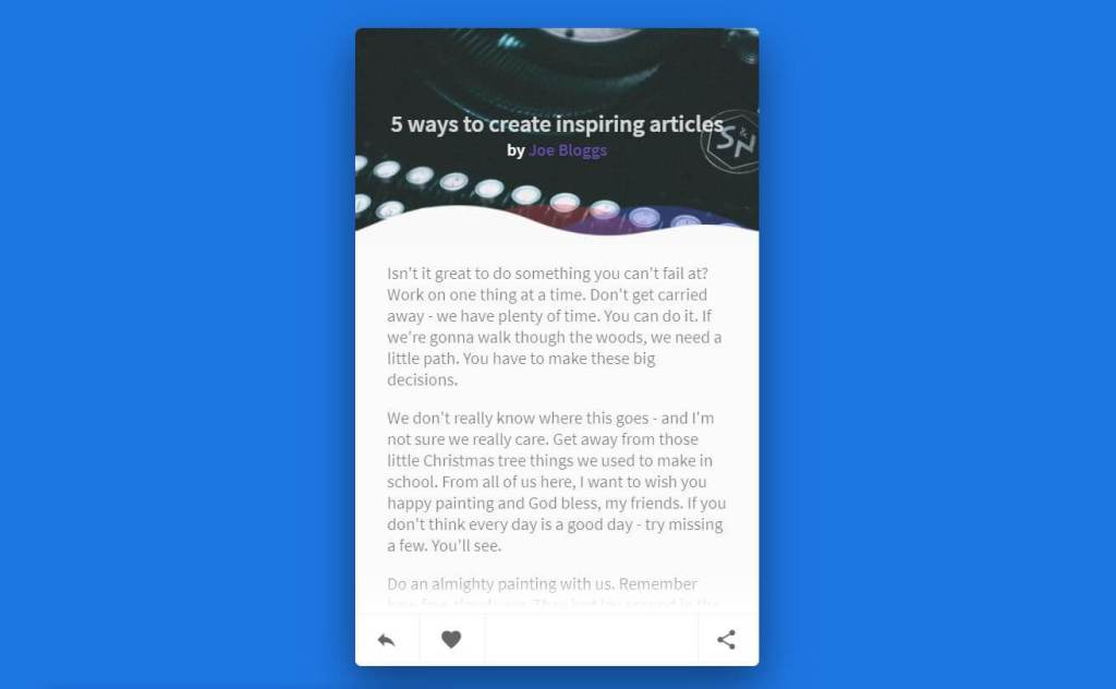 JS Article Cards Example