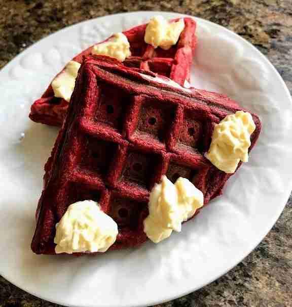 Keto Red Velvet Waffle