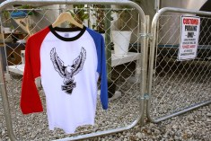 【On Any Sunday】 Eagle LOGO Raglan 3/4 sleeve T-Shirt