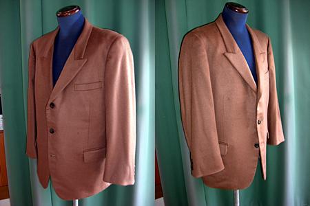 ダブルスーツをシングルスーツに仕立て直し・洋服リフォーム・リメイク