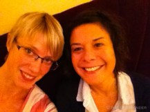 With Virginie after a superb last meal at our favourite italian restaurant Mona Lisa.